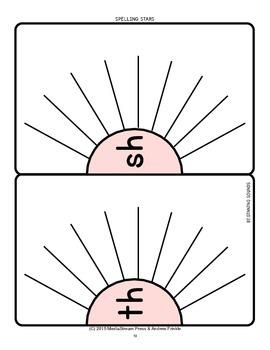 Spelling Stars - Graphic Organizer Spelling Phonics Tool Set