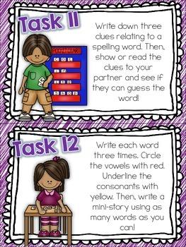 Spelling Station Task Cards