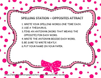 Spelling Task Cards for Literacy Stations