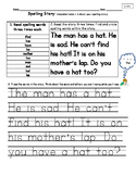 Spelling Stories-Unit 1 National Geographic Reach for Reading