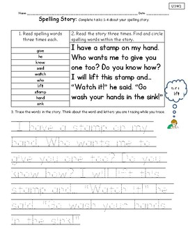 Spelling Stories- Unit 3 National Geographic Reach for Reading