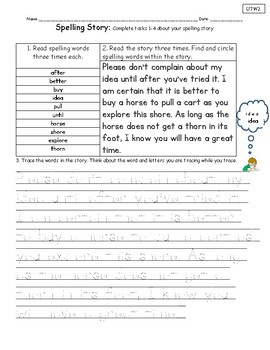Spelling Stories Unit 7-National Geographic Reach for Reading