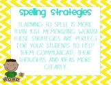 Spelling Strategies Anchor Chart