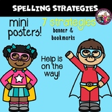 Spelling Strategies! Bulletin Board! PLUS Bookmarks!!
