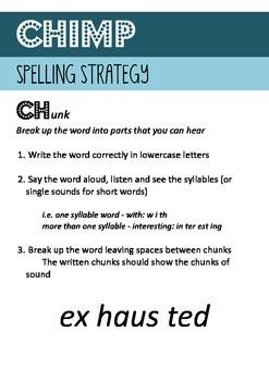 Spelling Strategies - CHIMP Posters