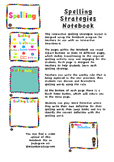 Spelling Strategies Interactive Notebook Smartboard File