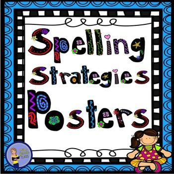 Spelling Strategies Posters - Blue Frame