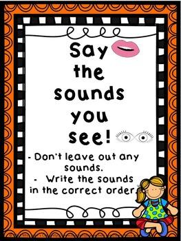 Spelling Strategies Posters Orange Frame