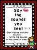 Spelling Strategies Posters Red Frame