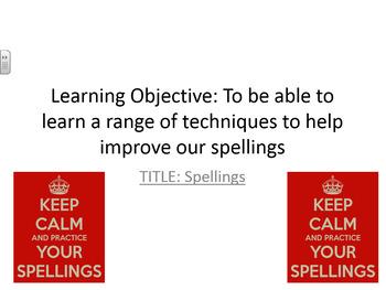 Spelling Strategies Scheme of Work (Whole School Literacy)