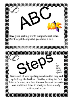 Spelling Strategy Activity Cards - Learning Center or Whole Class