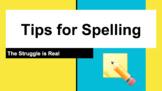 Spelling Study Strategies (Editable)