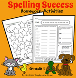 Spelling Success homework activities for grade 1 (level A)