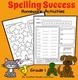 Spelling Success homework activities for grade 1 (level A)