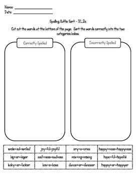 Spelling Suffix Sort – 3.L.2e