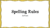 Spelling Suffixes Posters