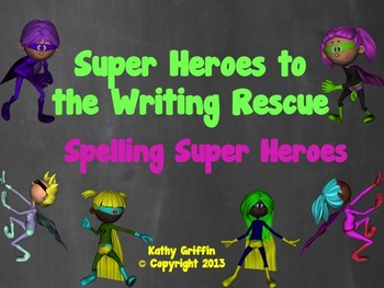 Spelling Superheroes Mini Video Fun for Writing Unknown Words