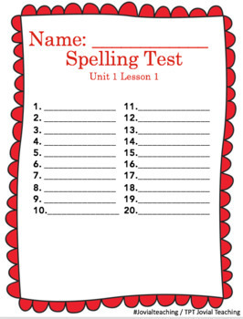 Journeys 4th Grade Unit 1 Spelling Supplements Easy to Use! 42 pages of FUN!