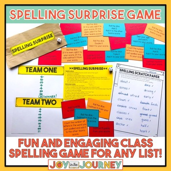 Spelling Surprise! Spelling Review Game