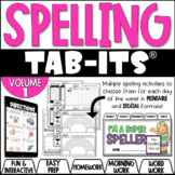 Spelling Tab-Its® - Use with ANY SPELLING LIST