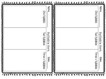 Spelling Task Card Response Sheets