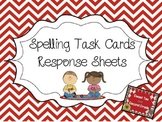 Spelling Task Card Response Sheets
