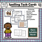 Spelling Task Cards 24 Open Syllables
