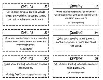 Spelling Task Cards (36)