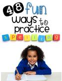 Spelling & Word Work Activities {48 Fun Activities for ANY Spelling List}