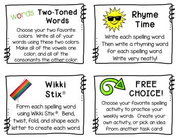 spelling word work activities 48 fun activities for any spelling list. Black Bedroom Furniture Sets. Home Design Ideas