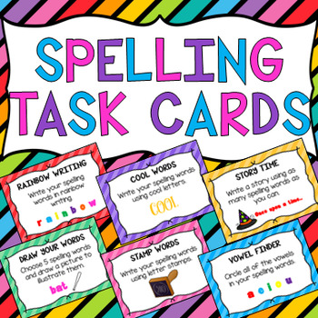 Spelling Task Cards - ANY LIST