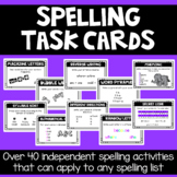 Spelling Task Cards- Any List