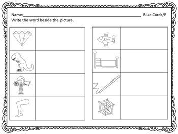 Spelling Task Cards- CVC Words