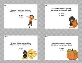 Spelling Task Cards For Grades 2-3- Fun Crow Theme