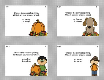 Spelling Task Cards For Grades 2-3- Fall Theme