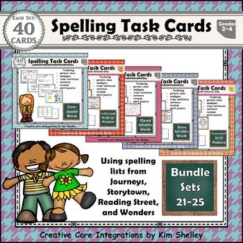 Spelling Task Cards GROWING BUNDLE