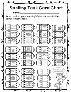 Spelling Task Cards - Literacy Centers