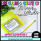 Spelling Task Cards- Literacy Centers (20 Task Cards & Wor