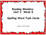 Spelling Task Cards- Plural Nouns (Wonders Reading Grade F
