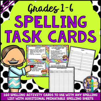 Spelling Task Cards & Printables { Editable Files Included }