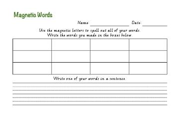 Spelling Task Cards - Sample