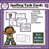 Spelling Task Cards Set 10 Er Ir Ur Wor