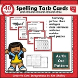 Spelling Task Cards Set 11 Ar Or Ore