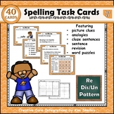 Spelling Task Cards Set 13 Re Dis Un
