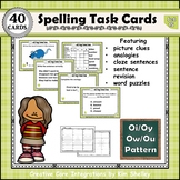 Spelling Task Cards Set 15 Oi Oy Ow Ou