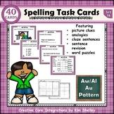 Spelling Task Cards Set 18 Aw Al Au