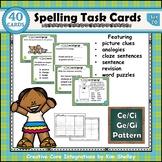 Spelling Task Cards Set 20 Ce Ci Ge Gi