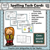 Spelling Task Cards Set 21 Compound Words