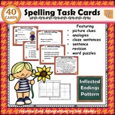 Spelling Task Cards Set 22 Inflected Endings
