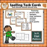 Spelling Task Cards Set 5 Long I